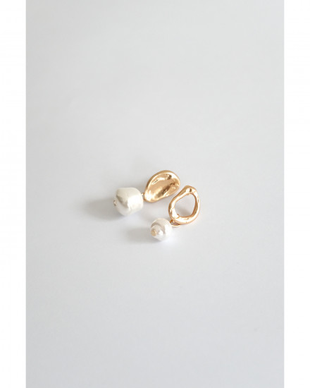 Drop Pearls - Matte Gold