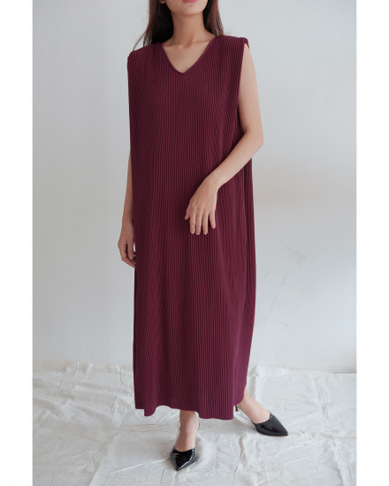 Kahlo Dress - Maroon
