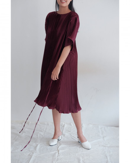 Hybrid Dress - Maroon