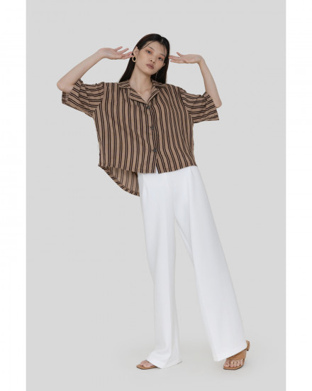 Simone Shirt - Brown Stripes