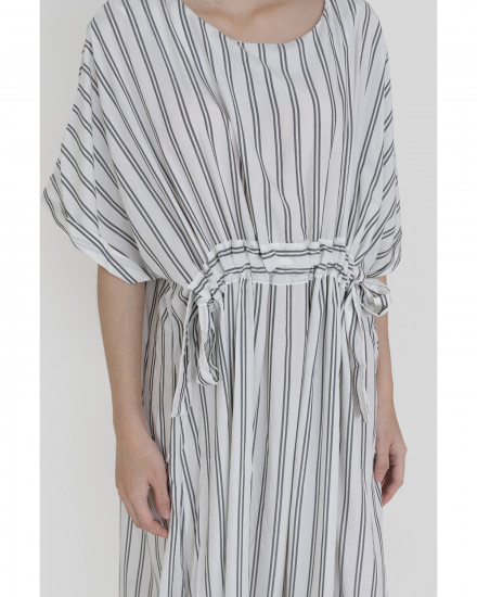 Sterling Dress - White Stripes