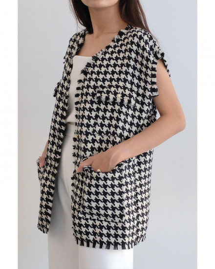 Constantine Vest - Houndstooth (PRE-ORDER, READY 21 AUGUST 2020)