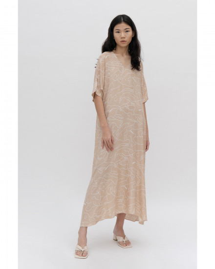 Luca Dress - Abstract Cream