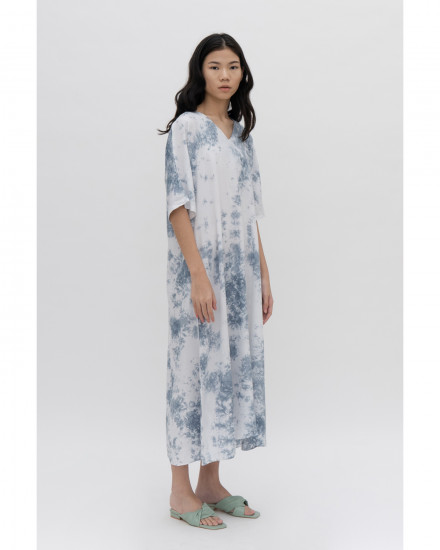 Luca Dress - Acid Blue Tie Dye