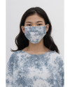 Tie Dye Cloth Mask (2 Pcs) - Acid Blue Tie Dye