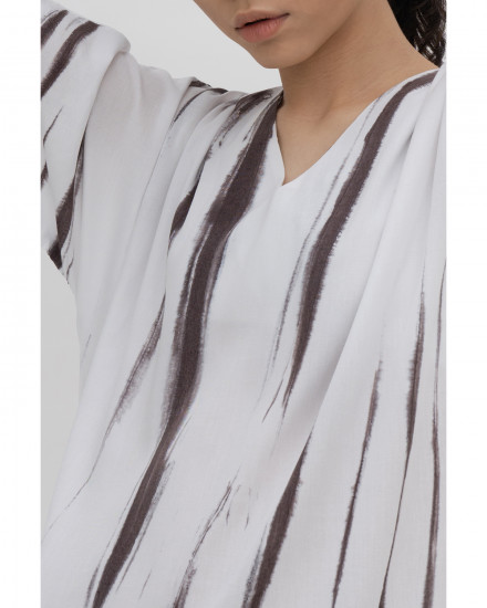 Luca Dress - Brown Tie Dye