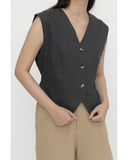 Cameo Vest - Charcoal