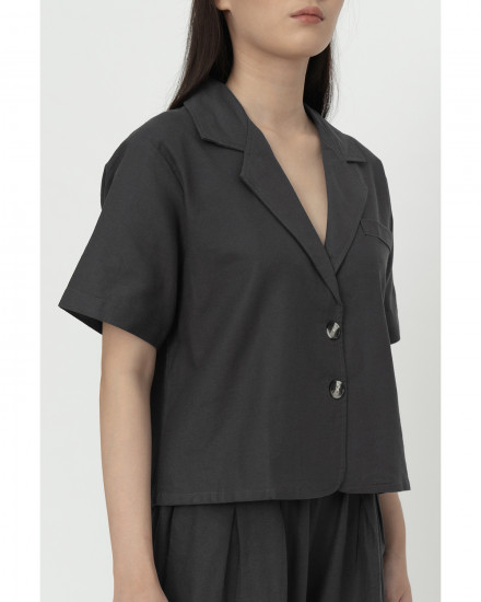 Fraser Top - Charcoal