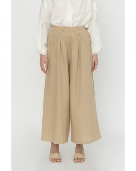 Whimsy Skirt Pants - Beige