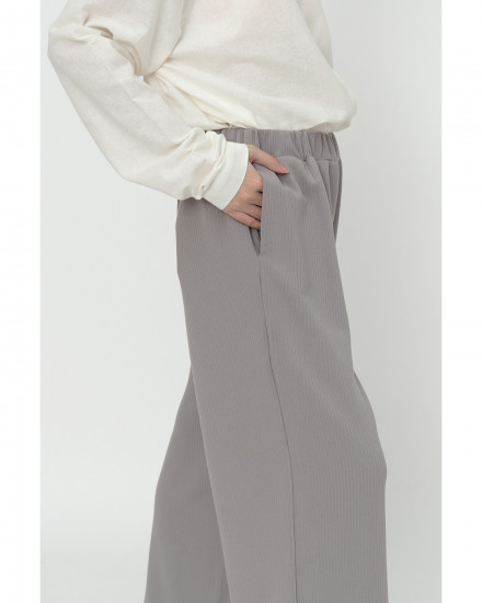 Jill Knit Pants - Light Grey