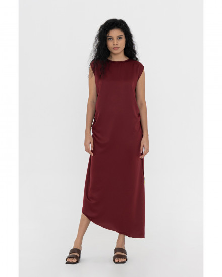 Genevieve Dress - Maroon
