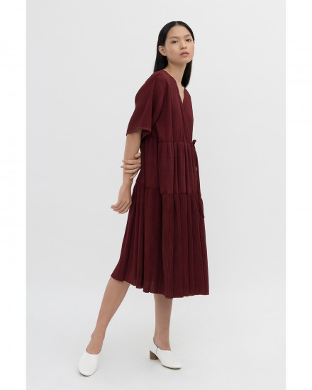 Kano Dress - Maroon (PRE-ORDER, Ready 14 Working Days)