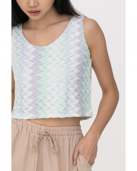 Libby Cropped Tank - Multicolor